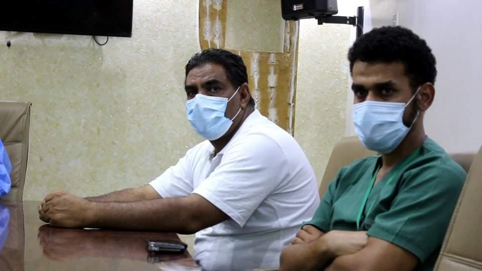 شبكة صناع السلام يدربون الكوادر الطبية لمجابهة جائحة كورونا فب الكفرة